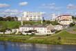 Old plant and Neman river. Grodno, Belarus
