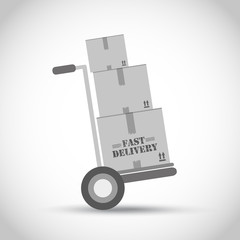 Fast delivery hand truck