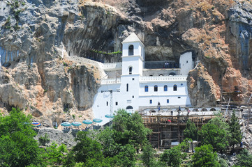 Ostrog monastery near Danilovgrad
