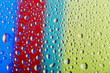 colored drops on the surface