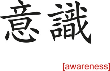 Chinese Sign for awareness