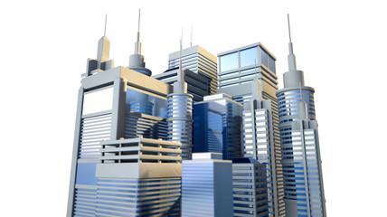 Shiny Modern City Cluster