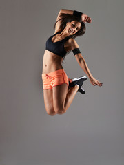 beautiful fitness woman, studio shot