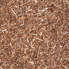 Wooden mulch ground fragment