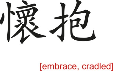 Chinese Sign for embrace, cradled