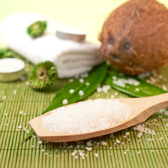 Coconut and aromatic salt composition