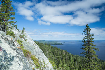 View from the Koli to lake Pielinen