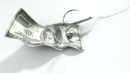 Dollar Banknote Baited Hook