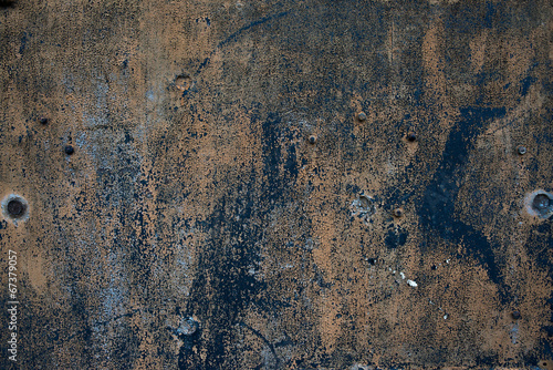 Papiers peints Metal Old grunge rough oxidazed iron surface metal corroded plate
