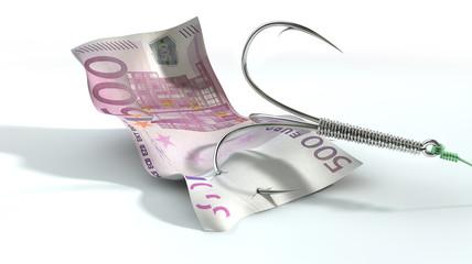 Euro Banknote Baited Hook