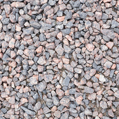 Surface covered with pebbles