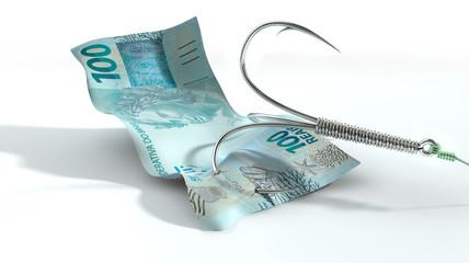 Real Banknote Baited Hook