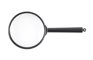 Black office magnifying glass
