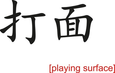 Chinese Sign for playing surface