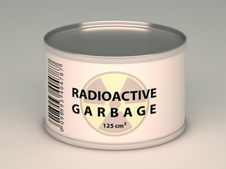 bank with  radioactive garbage title