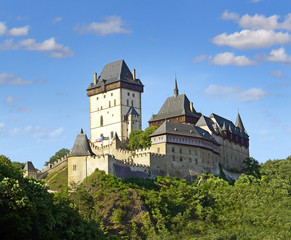 Royal castle Karlstejn in Czech Republic, Central Europe.