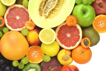 mieszanka różnych świeżych owoców