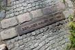 canvas print picture - Mauer-Kennzeichnung am Hahneberg