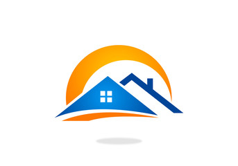 home infrastructure realty vector logo