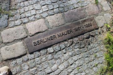 Mauer-Kennzeichnung am Hahneberg