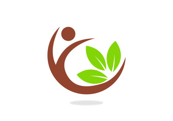 people-and-leaf-vector-logo