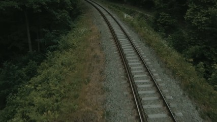 Footage presenting the railway track