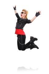 rocker girl jumping