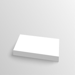 Stack of clean business cards.