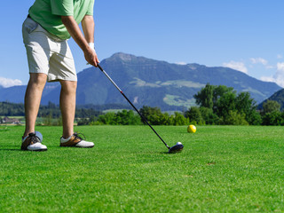 Golfer on the golf course