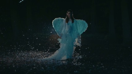 Angel walking in the night