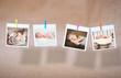 Leinwanddruck Bild - newborn photos