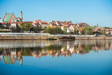 Old Town by the river Vistula
