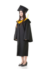 young graduation woman