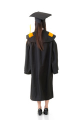 Asian graduation woman of rear view