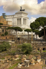 monument of Vittorio Emanuele and Roman Forum, Rome