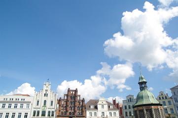 Fassaden am Markt in Wismar 3