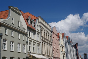 Fassaden am Markt in Wismar 7
