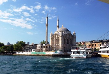 mosque on the coast of Bosphorus, Istanbul