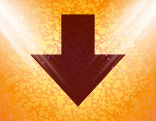 down Arrow icon Flat with abstract background