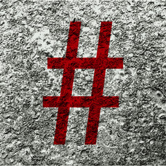 Hashtag Speech icon Flat with abstract background