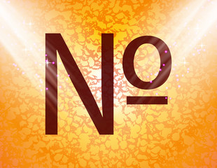 number sign icon Flat with abstract background