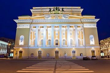 The academic drama theater of A.S. Pushkin Aleksandrinsky theate