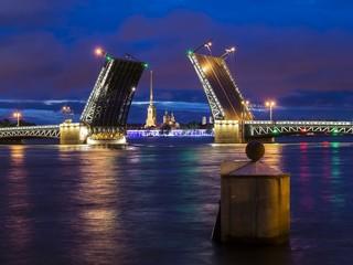 Palace Bridge in St. Petersburg, Russia