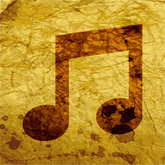 Music Notes Icons Flat with abstract background