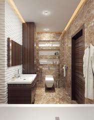 A bathroom in modern style