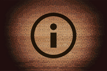 Information sign icon flat design with abstract background