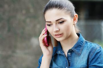 young unhappy teen woman