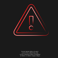 danger. exclamation mark icon flat design with abstract