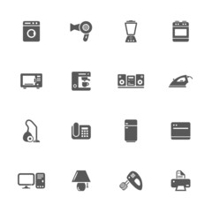 Home appliances icons set.