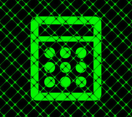 calculator icon flat design with abstract background
